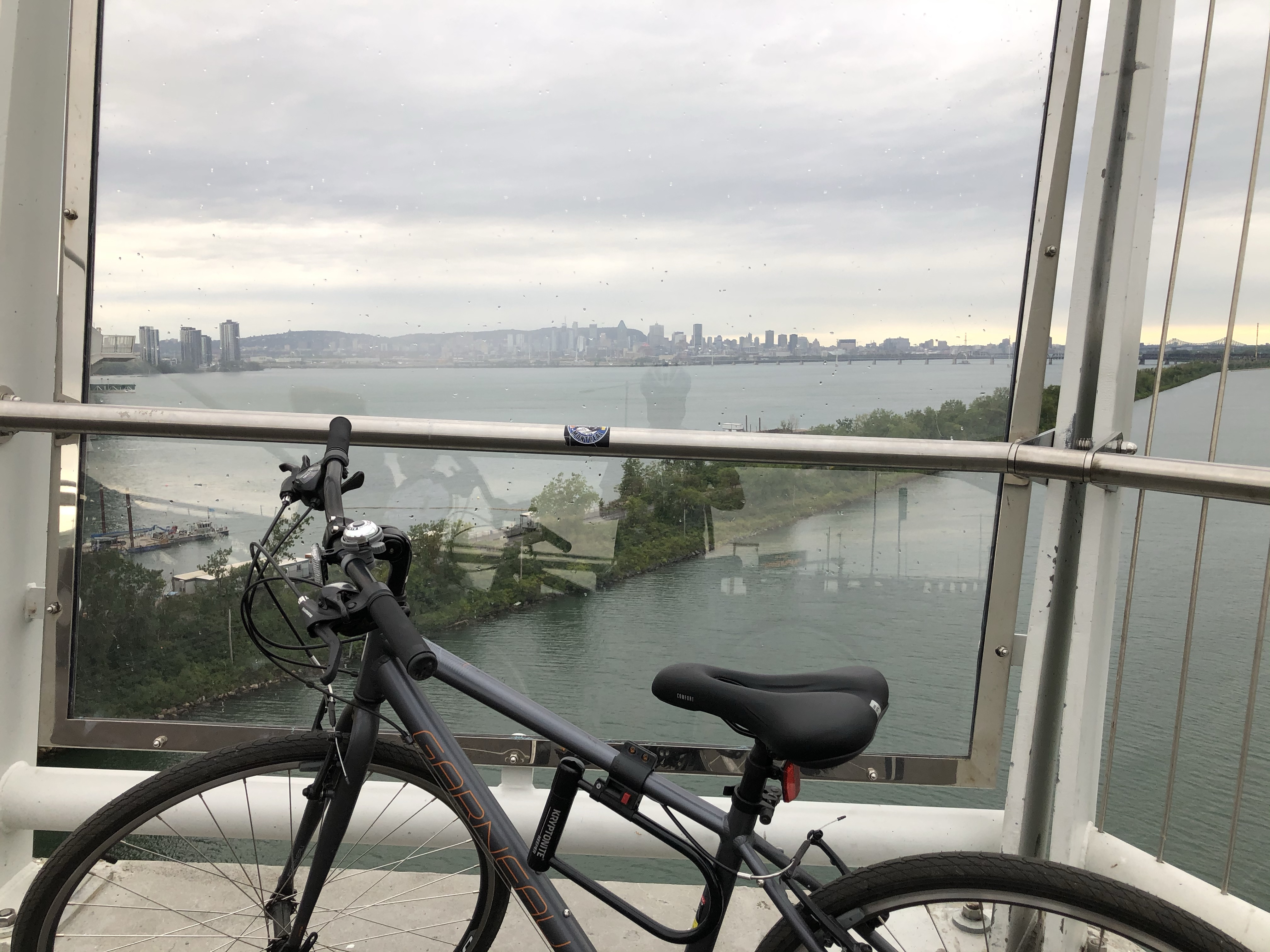 Crossing the Champlain Bridge by Bike