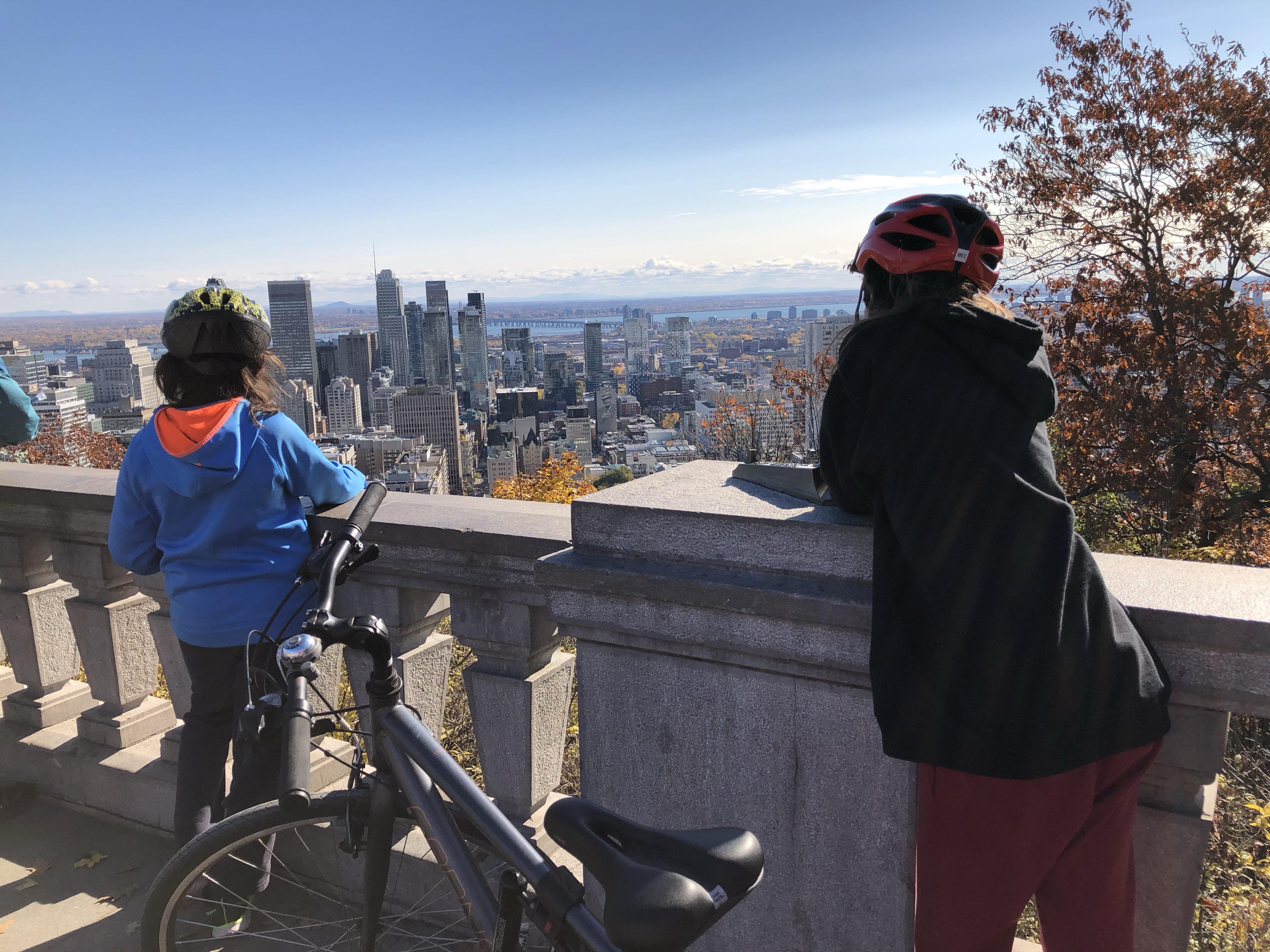 Mont Royal en automne, en vélo